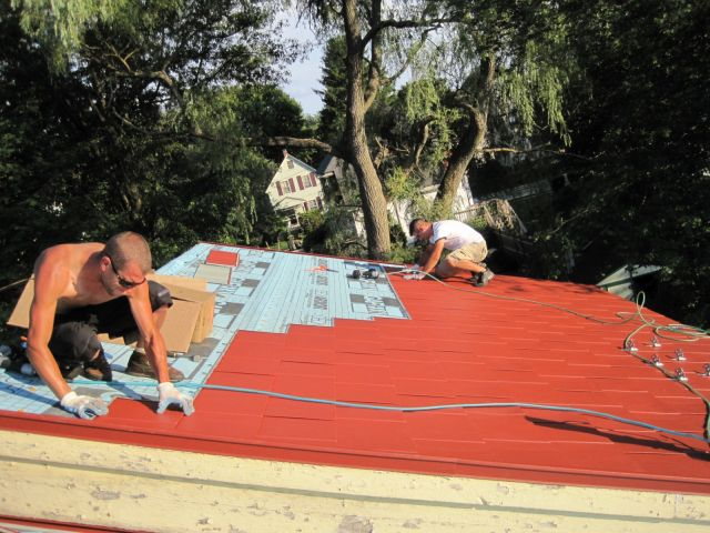 Metal Roofing Installation using a diagonal methodology