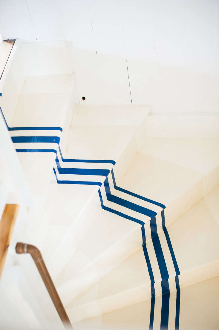 Remodeling 101 Nautical Stripes on the Stairs Remodelista
