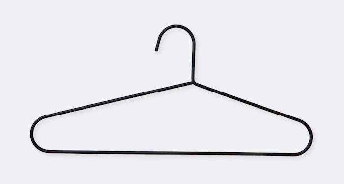Wire Hanger 2 pcs, Black: Remodelista
