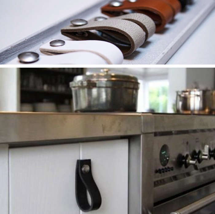 10 Easy Pieces: Leather Cabinet Hardware: Remodelista