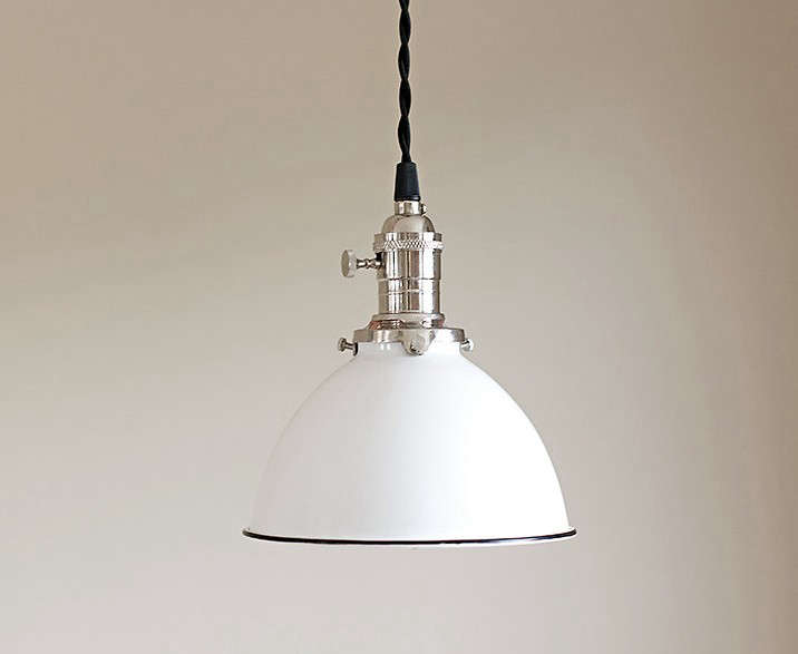 pull out kitchen faucets organisers pendant light fixture white vintage industrial porcelain ...