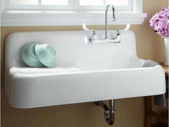 cast iron wall hung kitchen sink