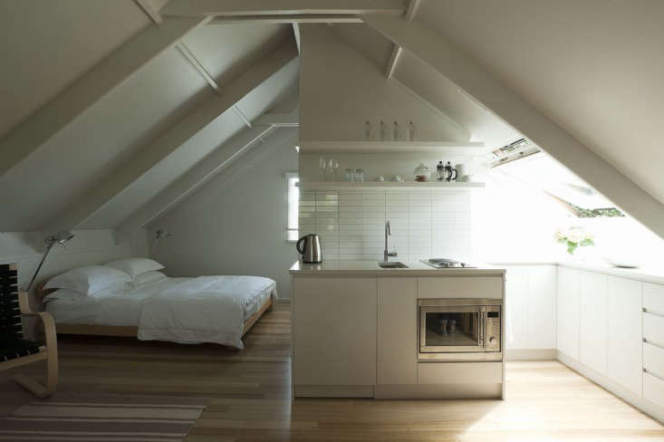 Small Space Living An Airy Studio Apartment In A Garage Remodelista