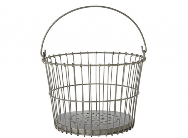 Galvanized Clam Basket: Remodelista