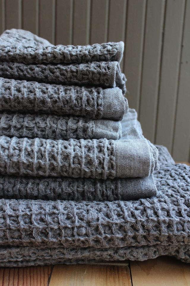 Kontex Lattice Organic Towels Remodelista
