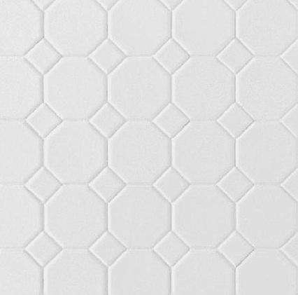 Daltile's Octagon and Dot Ceramic Tiles: Remodelista