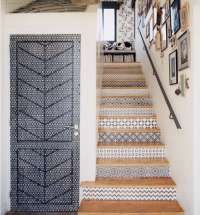 9 Spanish-Style Tiled Stair Risers: Remodelista