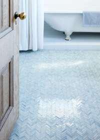 Bathroom of the Week: An Artist-Made Mosaic Tile Floor ...