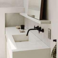 Concrete Kitchen Sink Wayfair Stools Bathroom Of The Week: In Brooklyn Heights, An Ethereal ...