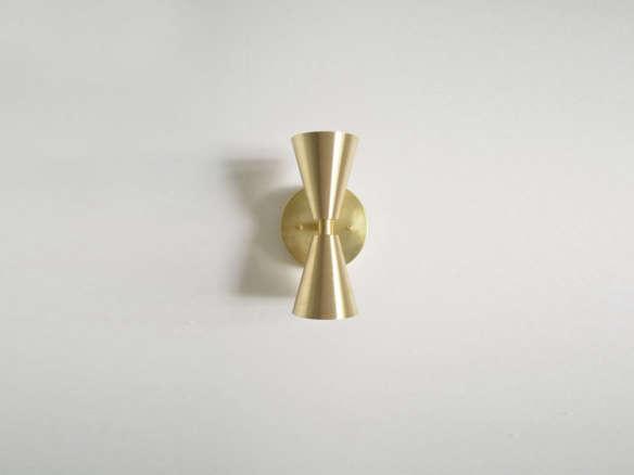 madonna solid brass cone lights