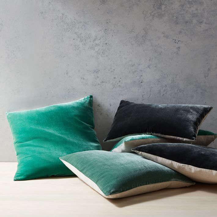 luxe velvet pillow covers
