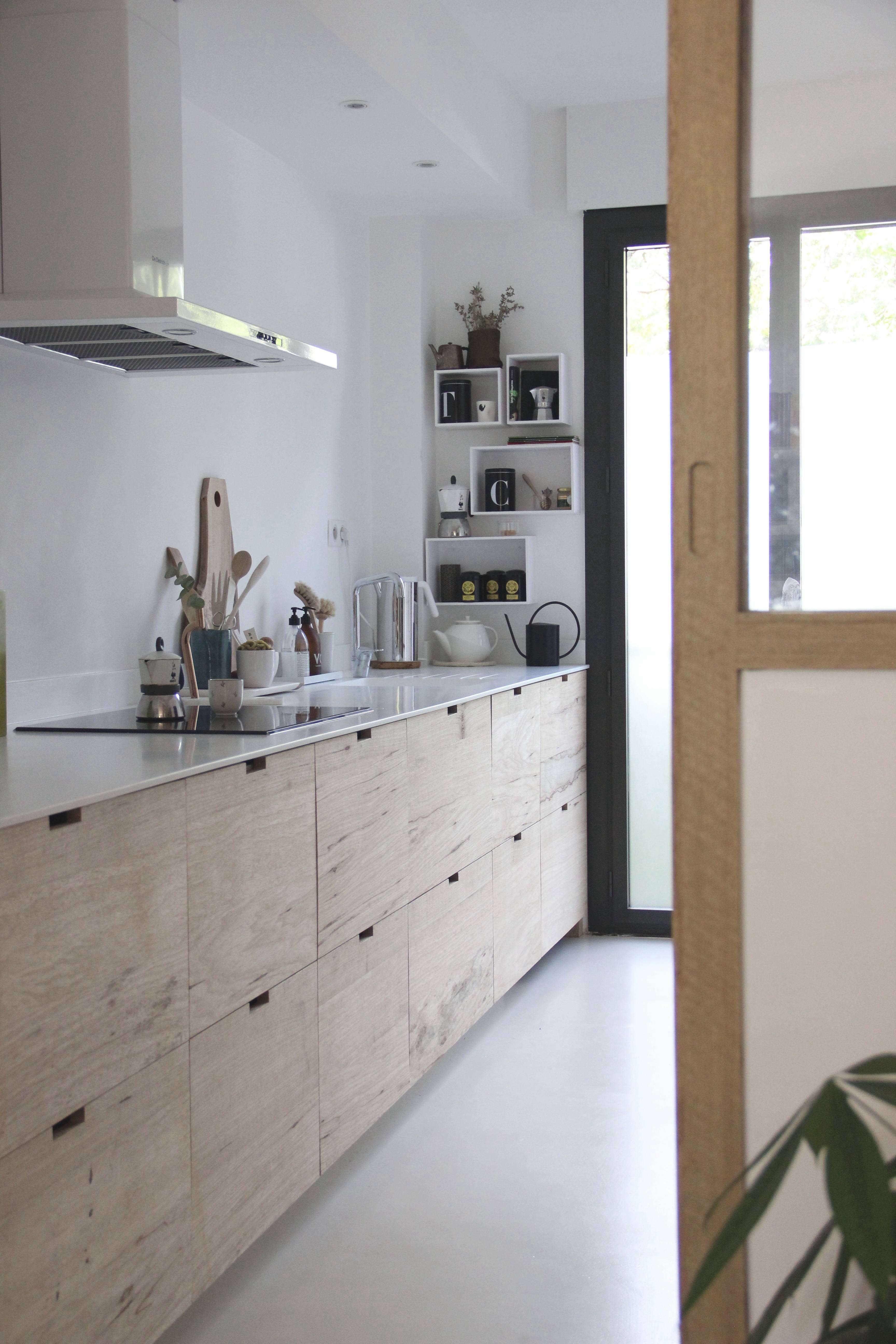 A designers own Scandistyle Ikea hack galley kitchen in