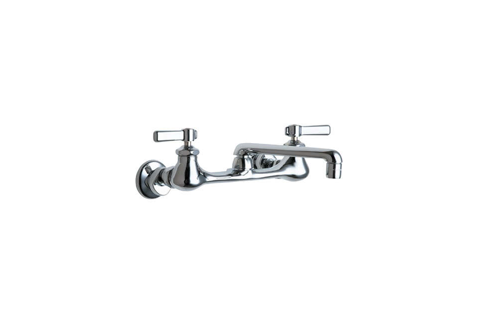 chicago faucets wall mounted dual