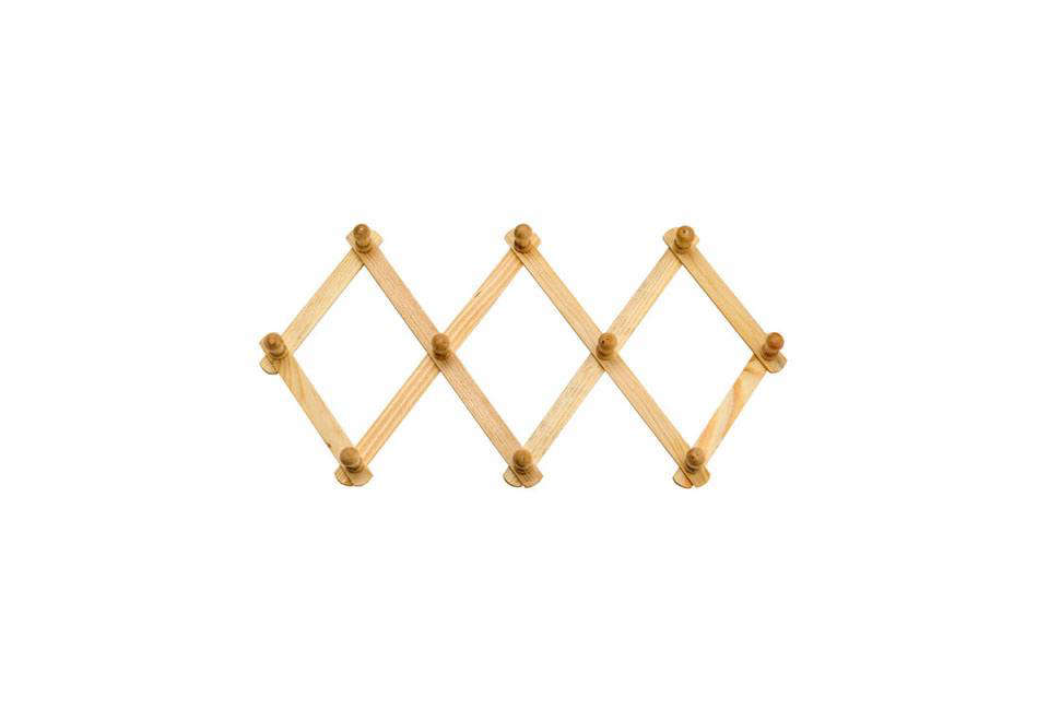 expandable wooden wall rack