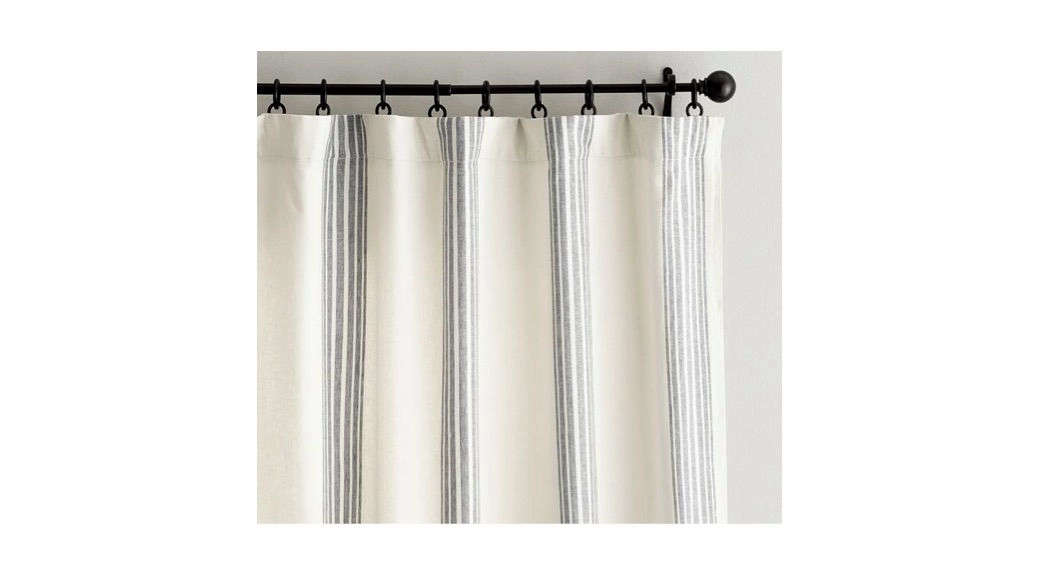 riviera stripe blackout curtain charcoal