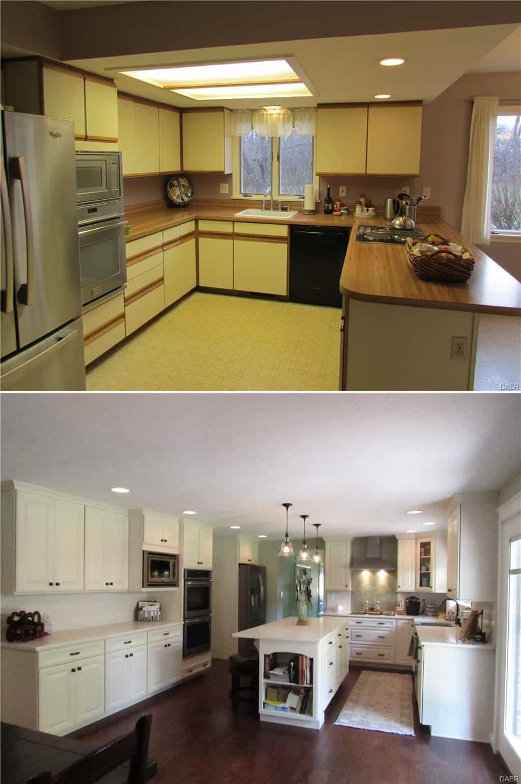 Tri Level Kitchen Remodel Before And After Martinique