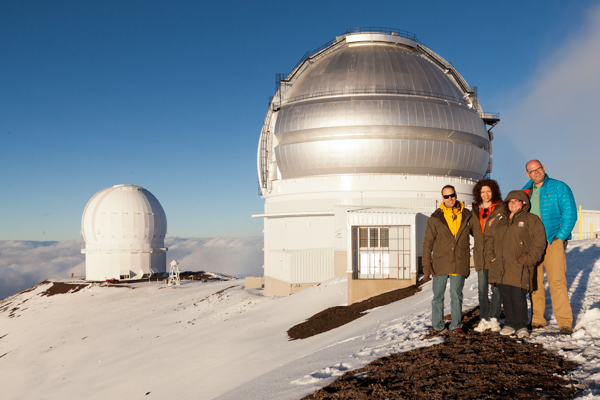 We spent one evening up on top of Mauna Kea, seeing the incredible huge observatories. Quite cold at the top!