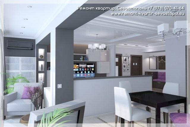 Светлый дизайн квартиры