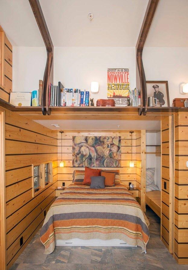 спальня 9 кв м дизайн фото с двуспальной кроватью 1
