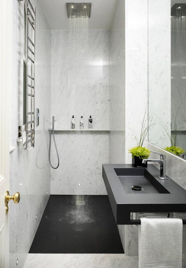 маленькая ванная комната дизайн 2018 6