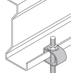 Purlin clamps for threaded rod