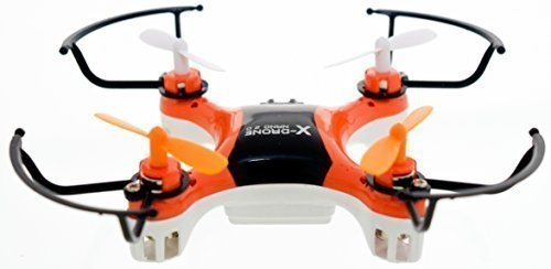 4DCopter Fly it , Love it! – X-Drone Nano 2.0 Aerial Drone Quadcopter Radio Controlled RC Flyer Quad Copter Helicopter – Size: Nano (2in x 2in x1in), Orange