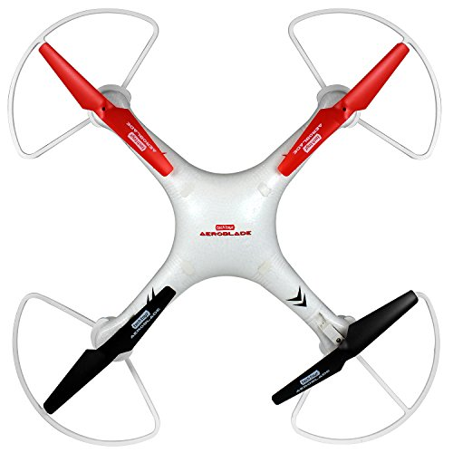 Aeroblade RT5000 2.4GHZ 4Ch Quadcopter with HD Camera, White