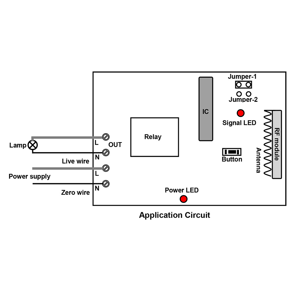 220 V relay output wireless receiver & transmitter of