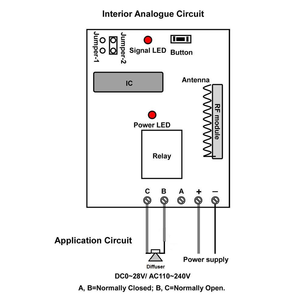 medium resolution of  wireless remote control circuit diagram