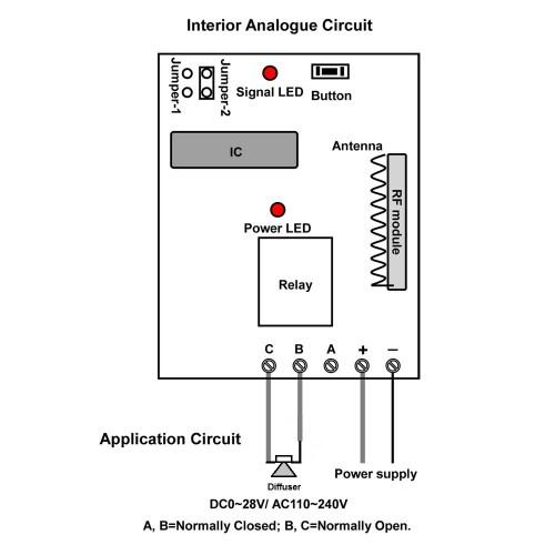 small resolution of  wireless remote control circuit diagram
