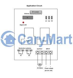 rf wireless remote control dc motor controller transmitter  [ 1000 x 1000 Pixel ]