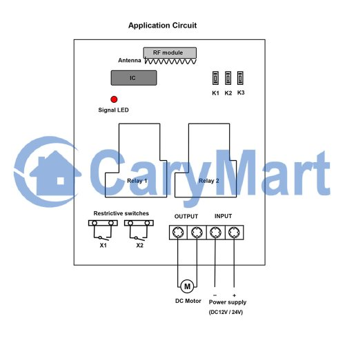 small resolution of rf wireless remote control dc motor controller transmitter