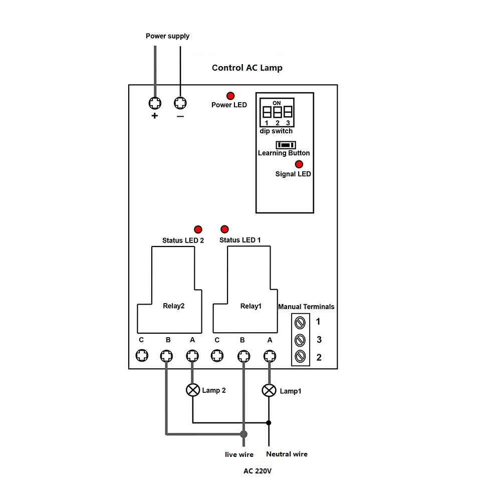 Remote Light Switch: How to automatically control two AC
