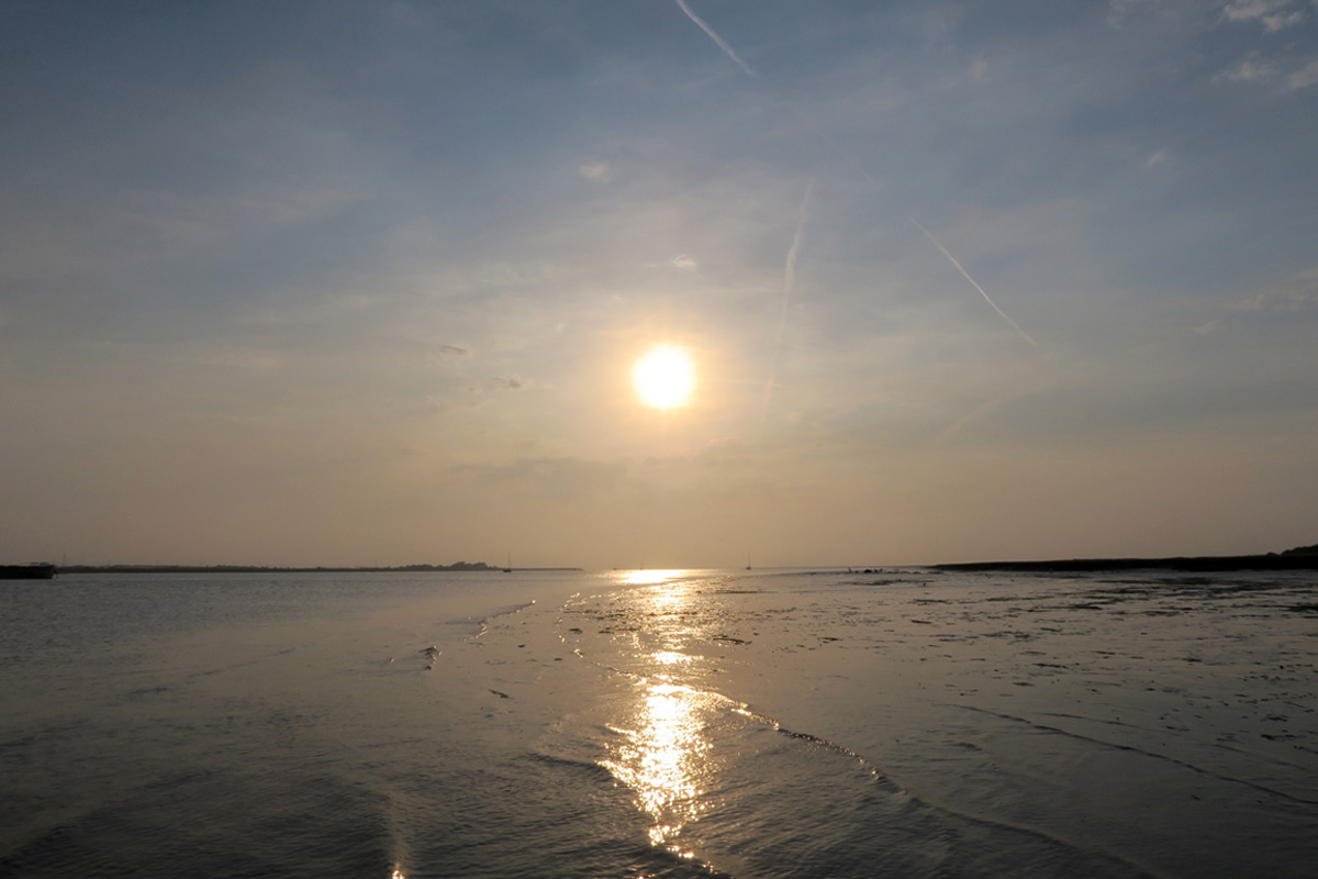 Sunset over the Swale, as seen from the old Harty Ferry