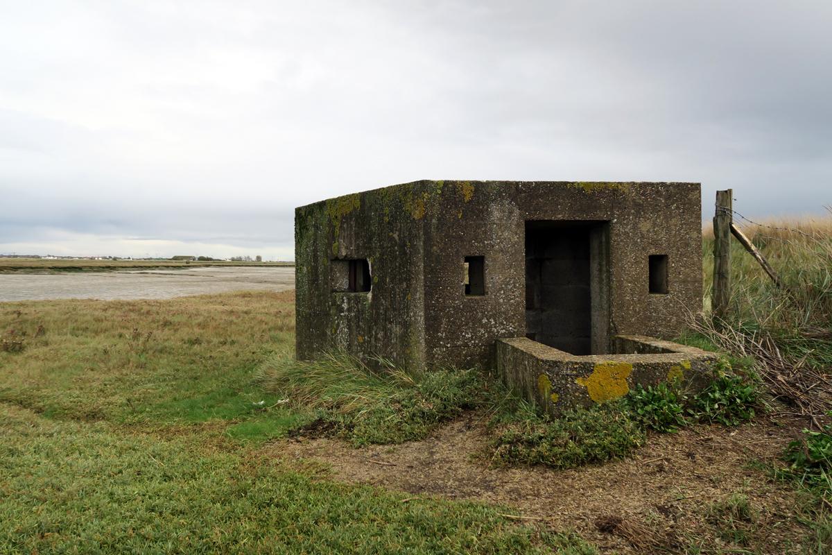 A Second World War pillbox overlooking Paglesham Creek