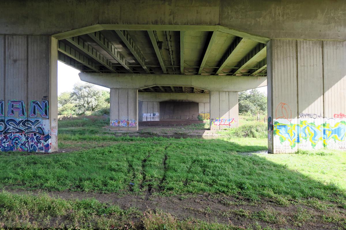 Below the A13