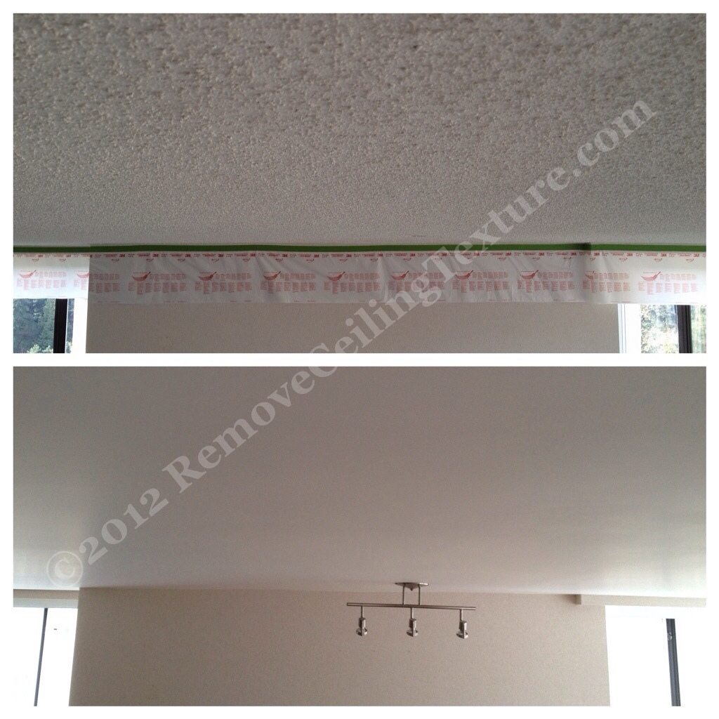 smooth ceilings in metrotown, Burnaby (hirise dining room popcorn ceiling texture removal)