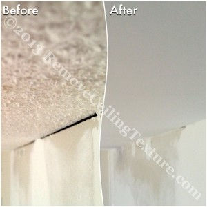 By smoothing the ceilings we were able to get rid of the gap between the ceiling and walls.