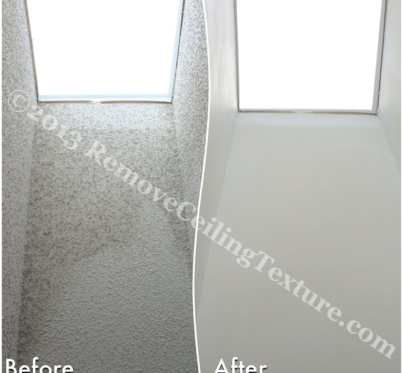 Skylights with ceiling texture can be damaged by moisture