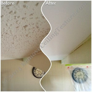 Ceiling Texture Removal in Kamloops - Popcorn removed from vaulted ceiling in Kamloops