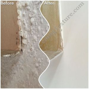 Ceiling Texture Removal in Kamloops - Close-up of ceiling texture in Kamloops