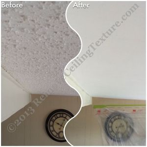 Ceiling Texture Removal in Kamloops - Modular home in Kamloops has popcorn removed from vaulted ceiling