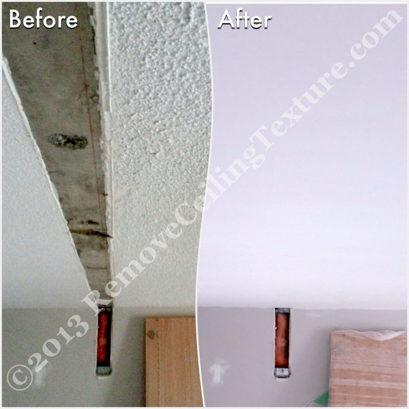remove ceiling texture