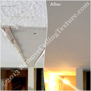 Ceiling repairs after removing walls between the kitchen and living room - Langley