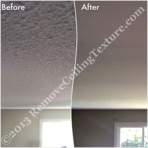 Ceiling renovations create a smooth living room ceiling for this home in Langley