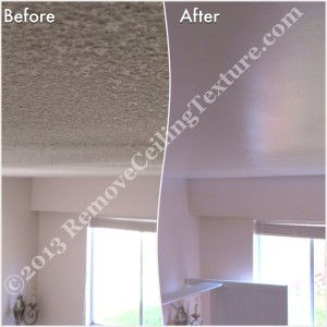 Ceiling texture removal plays a part in interior design for this North Vancouver home