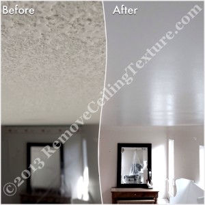 This North Vancouver homeowner had ceiling texture removal due to health concerns