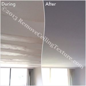 You can see how RCT needed to fill in the waves left in the ceiling after ceiling texture removal was attempted by an inept company.