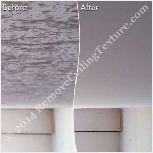 Removing popcorn ceilings: Dining room before and after in Langley