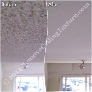 Asbestos in Popcorn Ceilings - Smooth ceilings in living room of North Vancouver basement suite